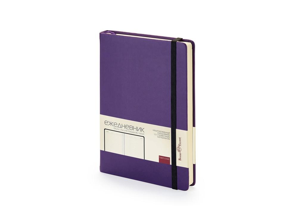 Ежедневник А5 недатированный «Megapolis Velvet», фиолетовый