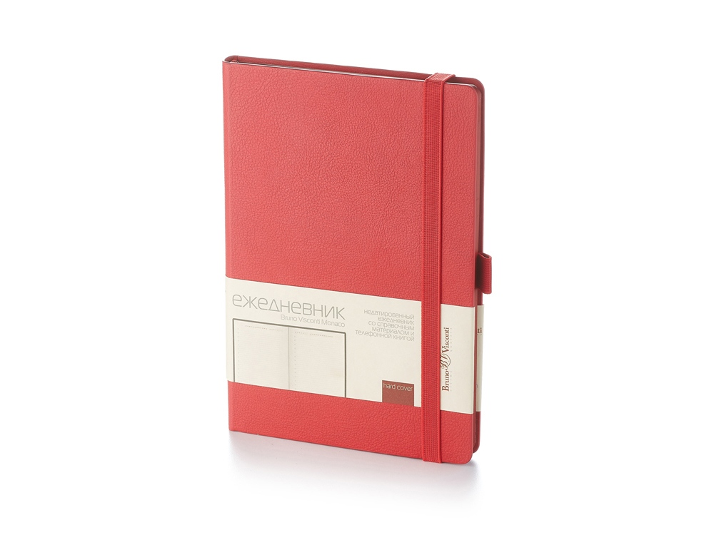 Ежедневник А5 недатированный «Monaco», красный