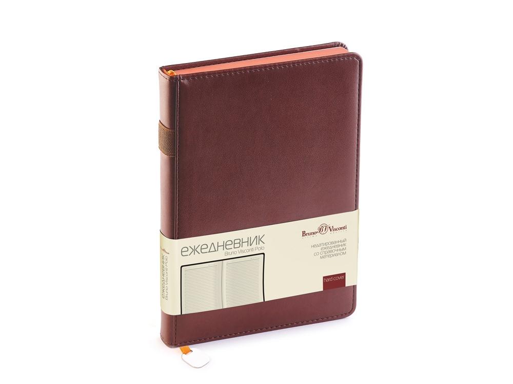 Ежедневник А5 недатированный «Polo», коричневый