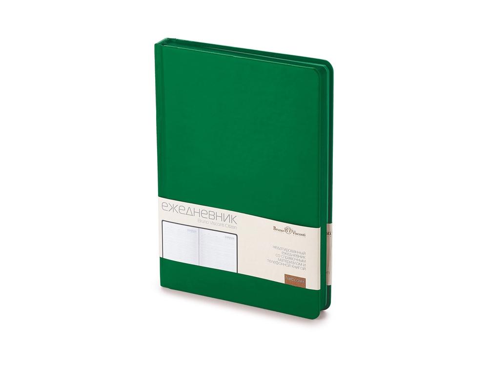 Ежедневник А5+ недатированный «Citizen», темно-зеленый