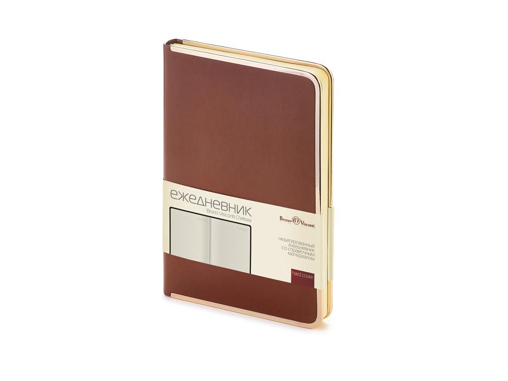 Ежедневник А5 недатированный Chelsea, коричневый