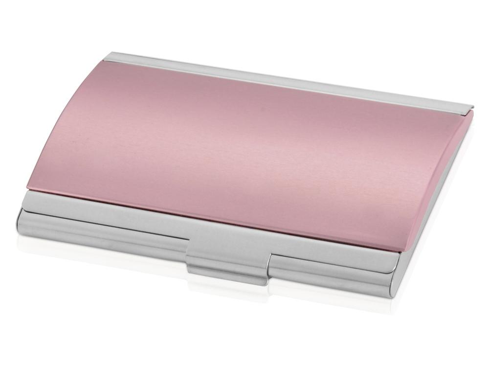 Визитница «Смит», розовый/серебристый