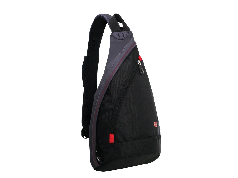 Рюкзак с одним плечевым ремнем 7л. Wenger, черный/серый