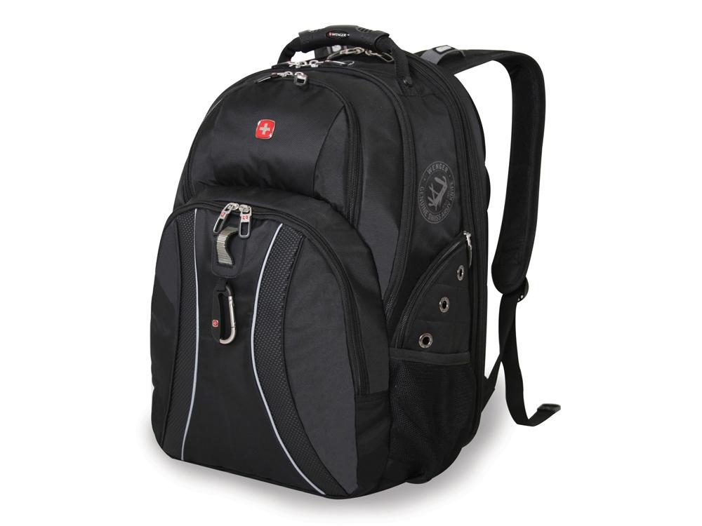 Рюкзак ScanSmart 36л с отделением для ноутбука 15. Wenger, черный/серый