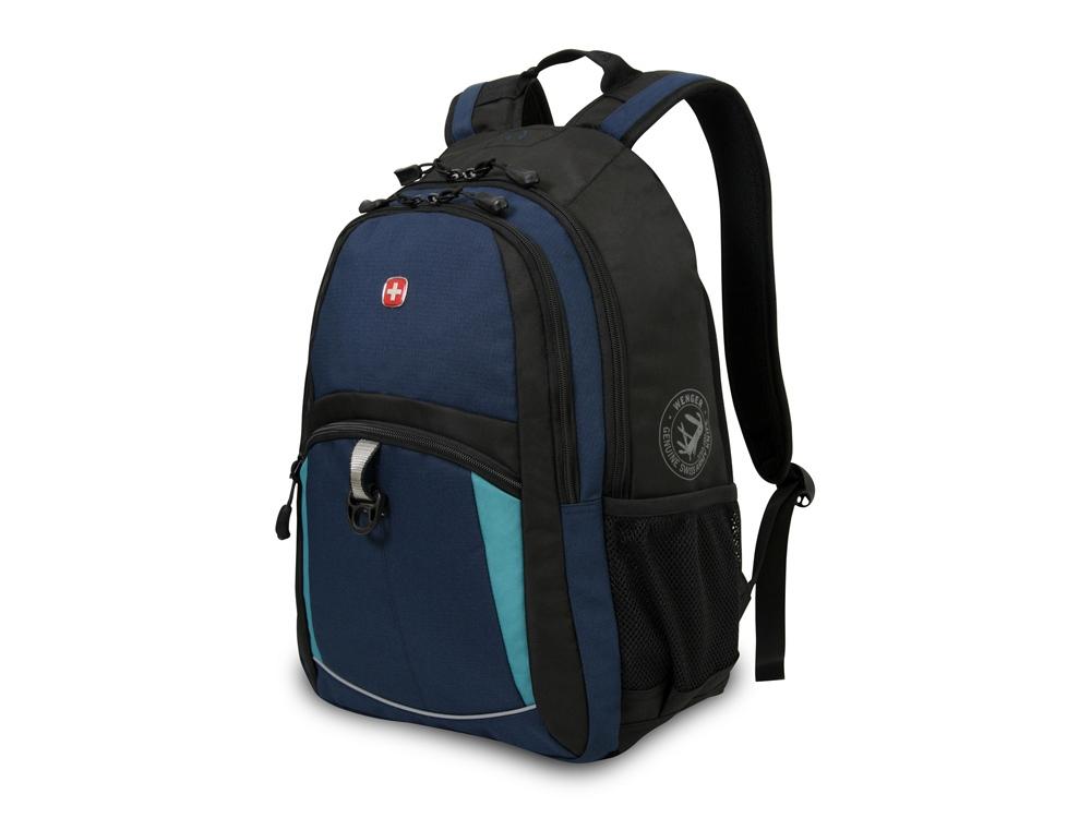 Рюкзак 22л с отделением для ноутбука 15''. Wenger, синий/черный/бирюзовый
