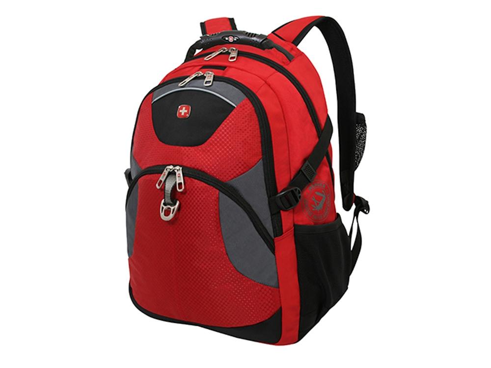 Рюкзак 32л с отделением для ноутбука 15''. Wenger, красный/серый/черный