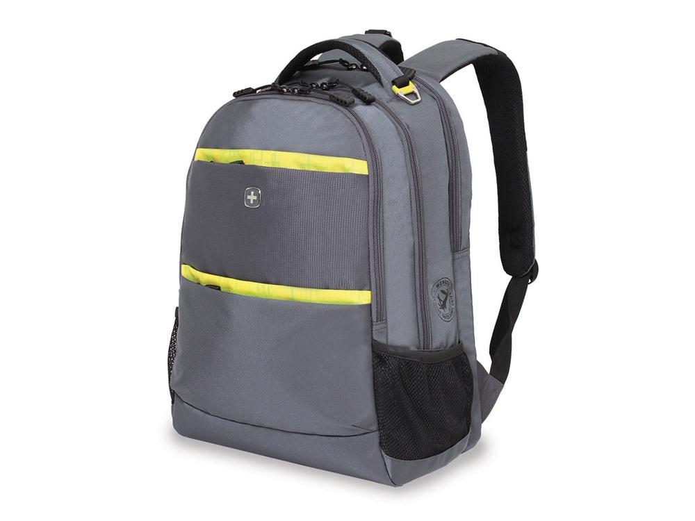 Рюкзак 28л с отделением для ноутбука 15''. Wenger, серый/салатовый