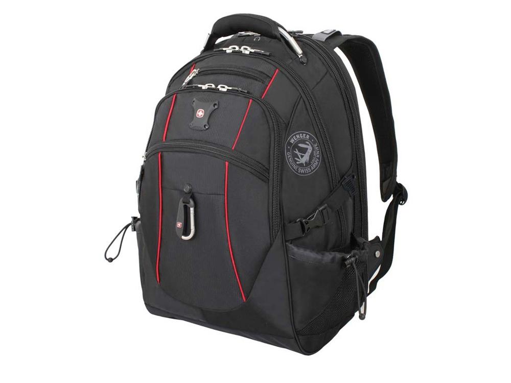 Рюкзак ScanSmart 38л с отделением для ноутбука 15''. Wenger, черный/красный