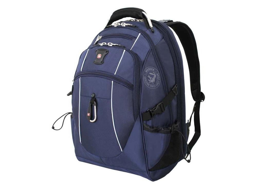 Рюкзак ScanSmart 38л с отделением для ноутбука 15''. Wenger, синий/серебристый