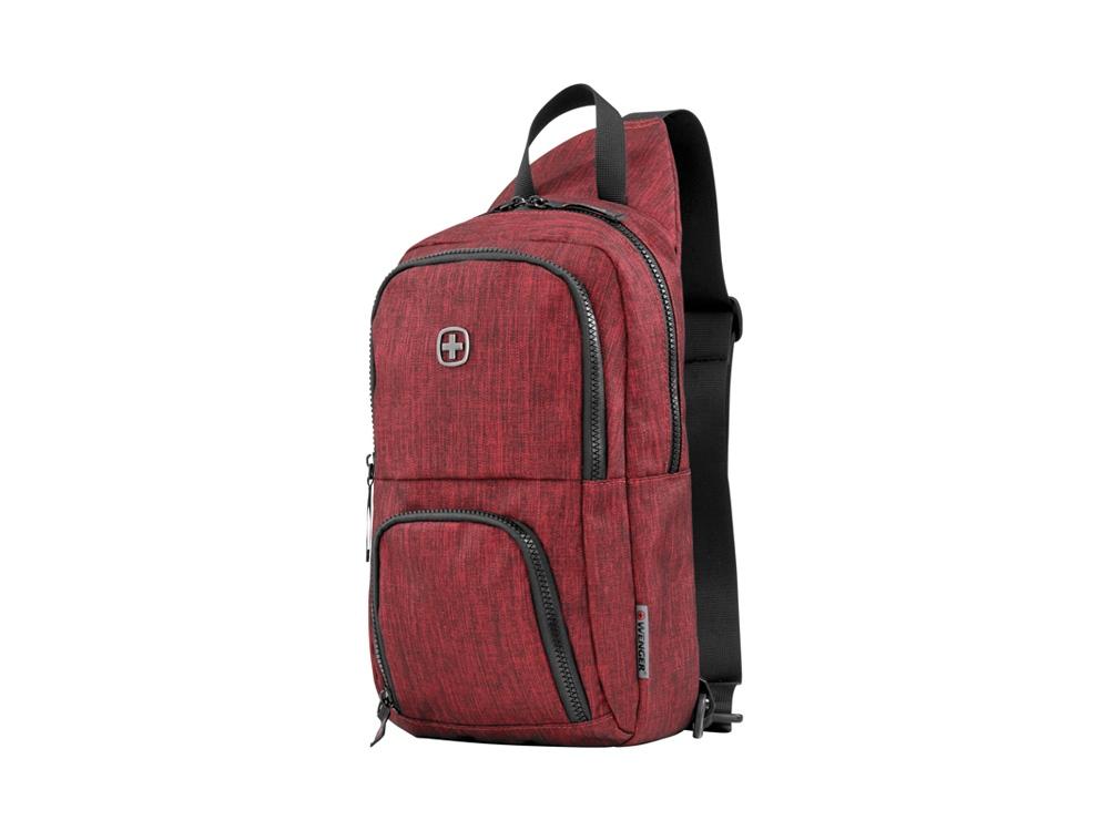 Рюкзак WENGER с одним плечевым ремнем 8 л, бордовый