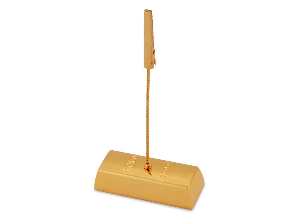 Держатель для документов Слиток золота, золотистый