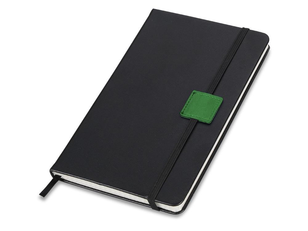 Блокнот А5 Label черный/зеленый. Lettertone