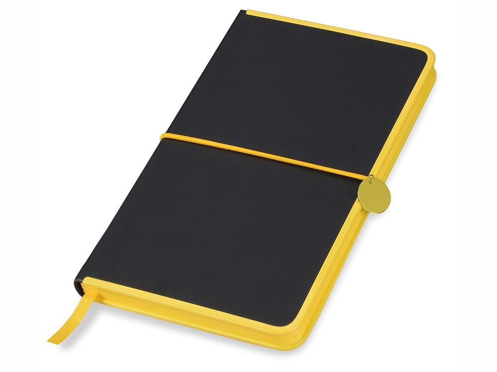 Блокнот Color Rim, черный/желтый. Lettertone