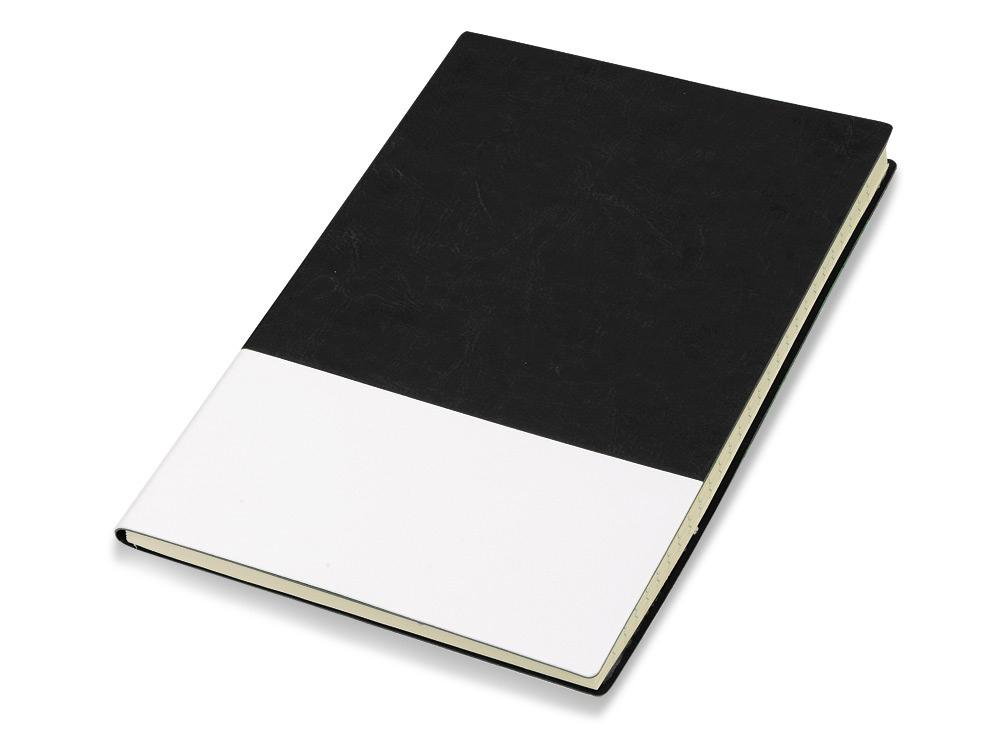 Блокнот Fusion, черный/белый. Lettertone