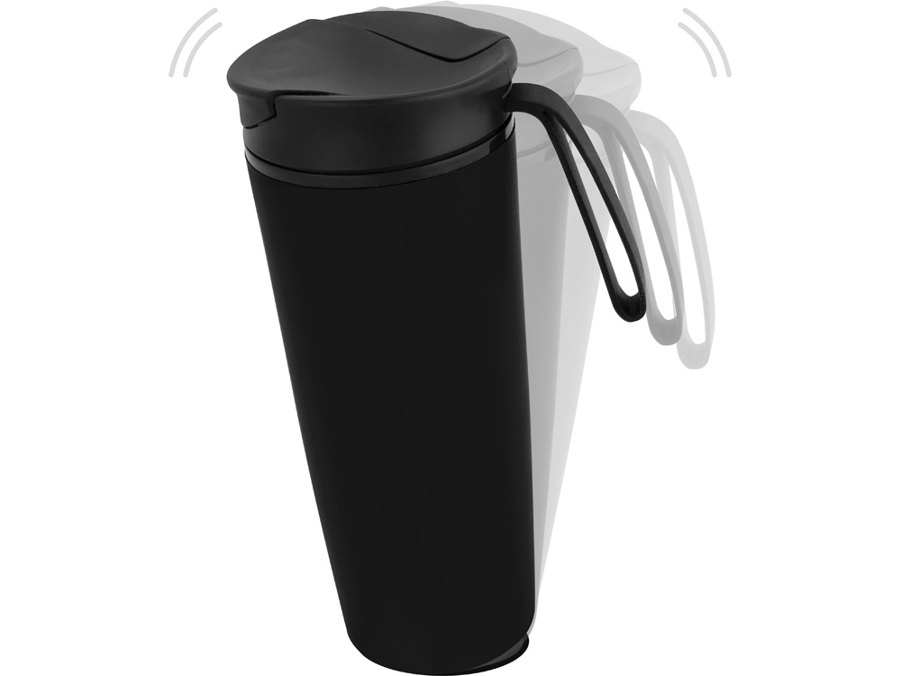 Термокружка Годс 470мл на присоске, черный