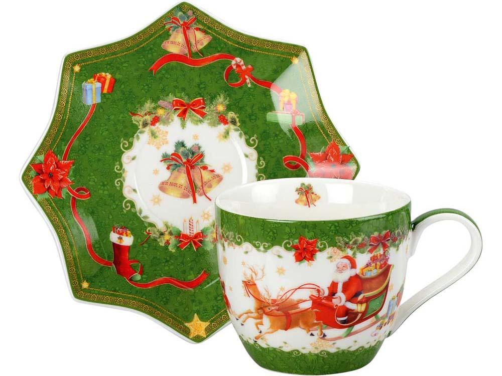 Чайная пара «Санта Клаус», зеленый