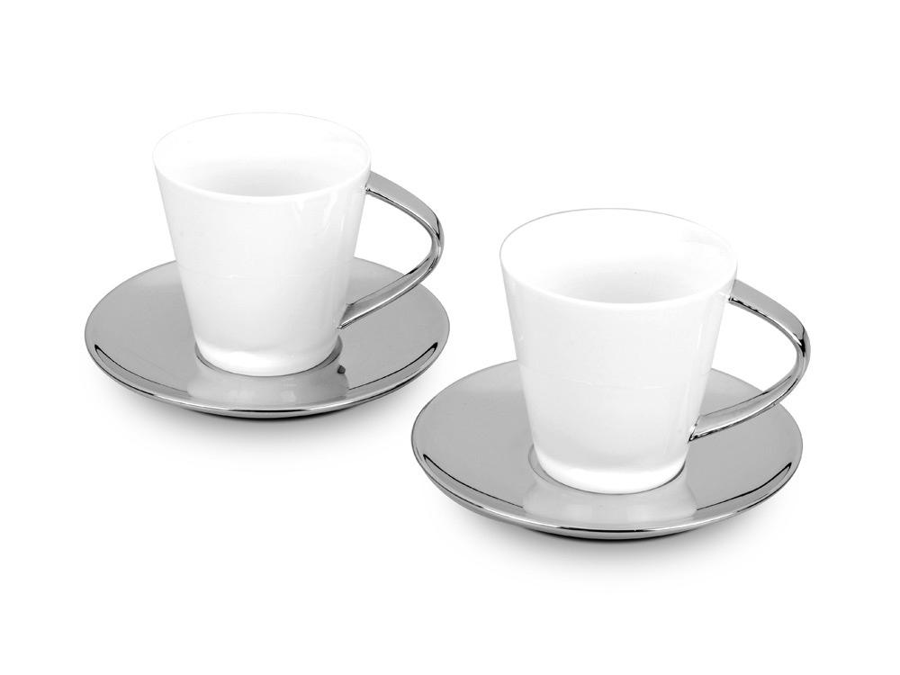 Набор: 2 чашки на 250 мл с блюдцами
