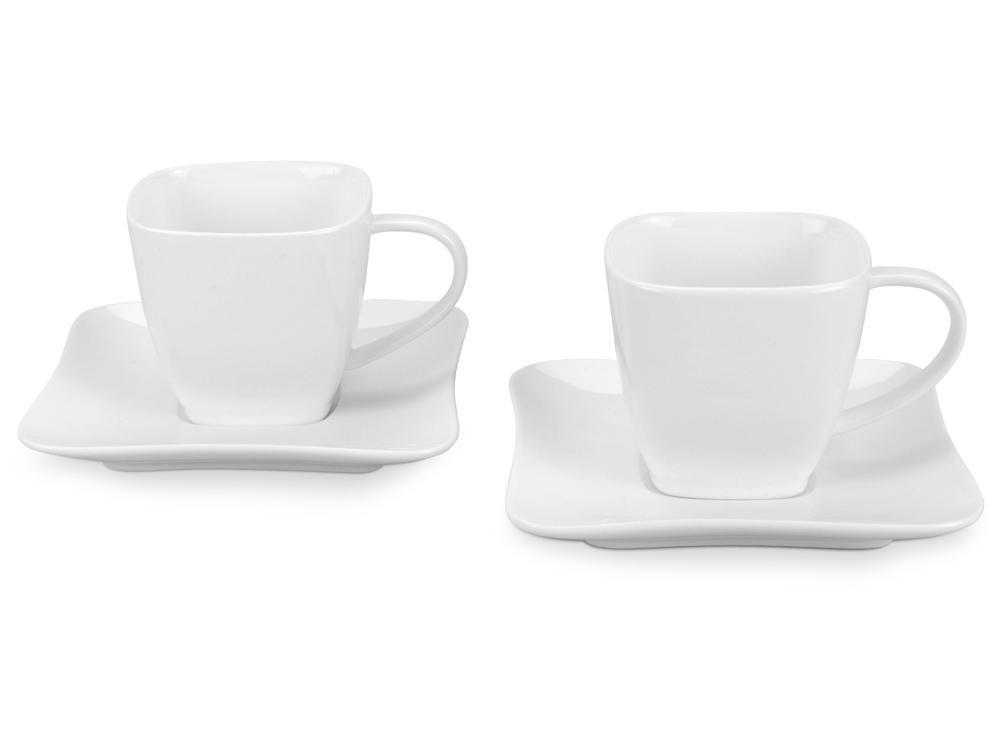 Набор: 2 чашки на 180 мл с блюдцами