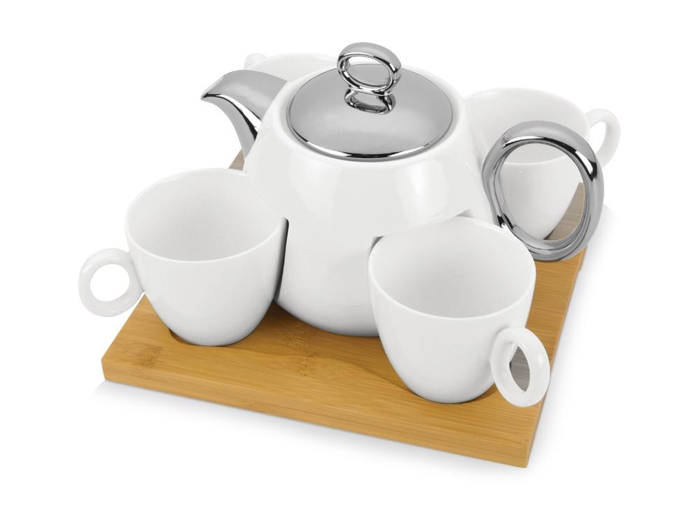 Набор: чайник на 960 мл, 4 чашки на 200 мл, подставка