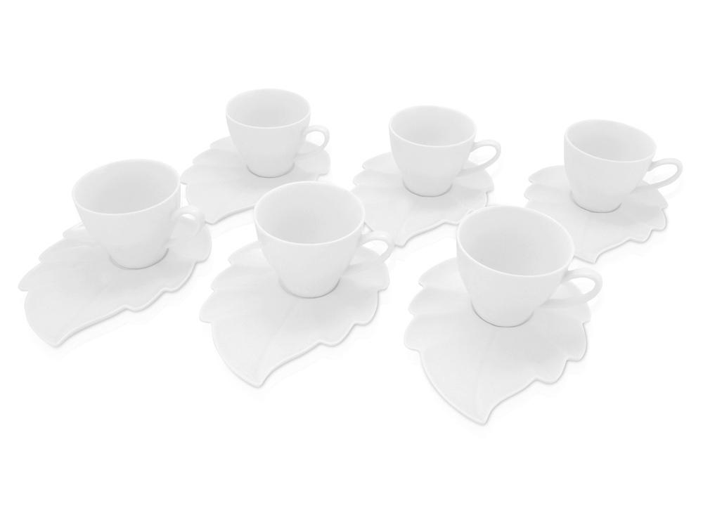 Набор: 6 чашек на 180 мл с блюдцами