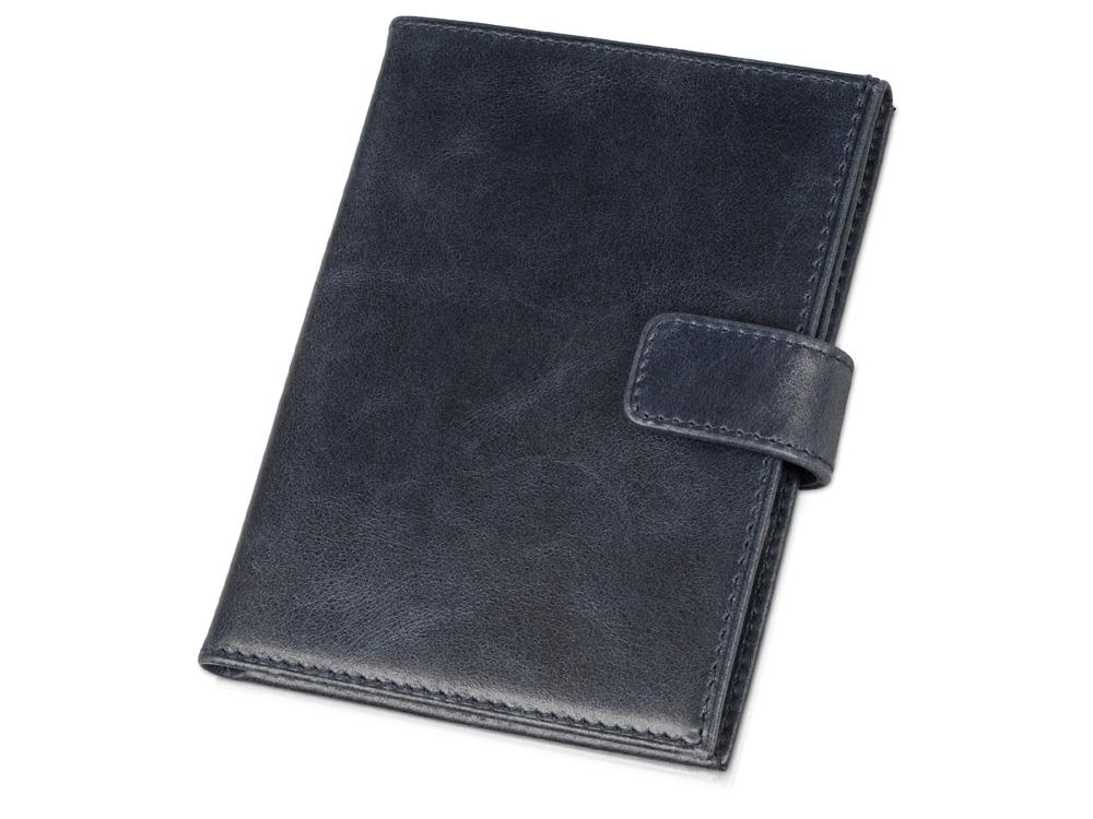 Бумажник путешественника Druid с отделением для паспорта, темно-синий