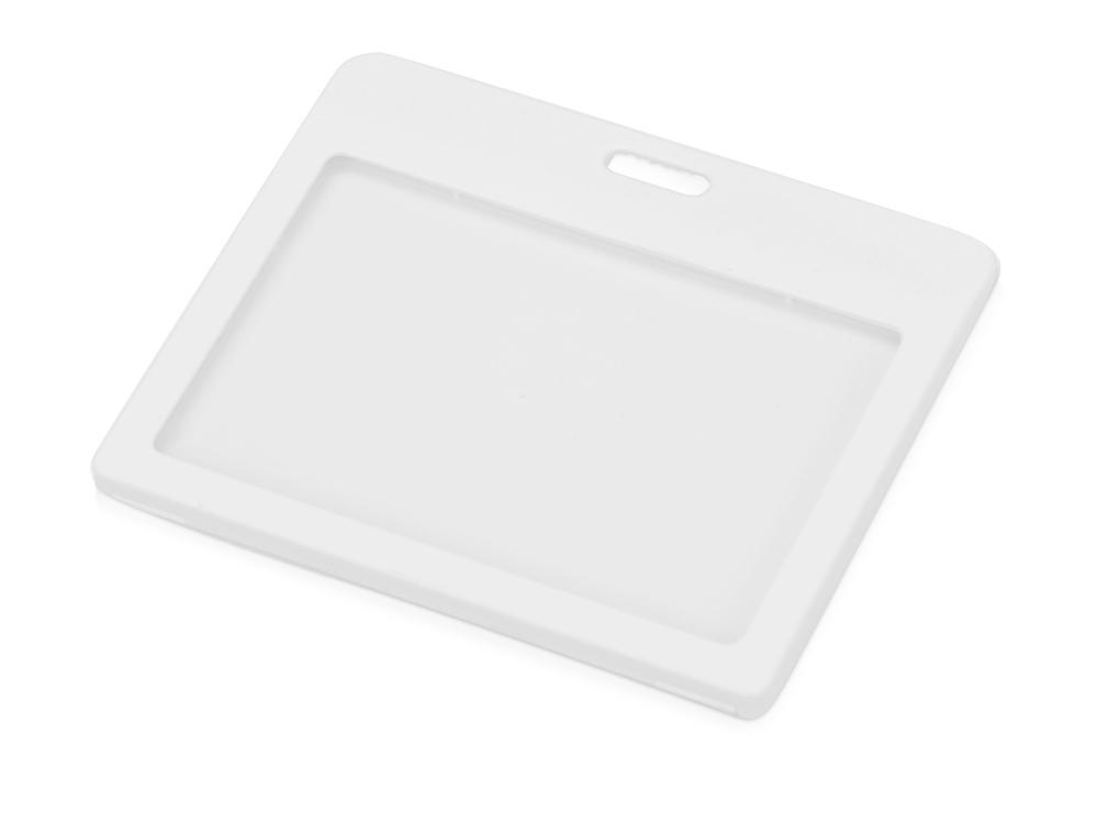 Бейдж Show mini Flat 98 *78 мм (внут.размер  85*54 мм), белый