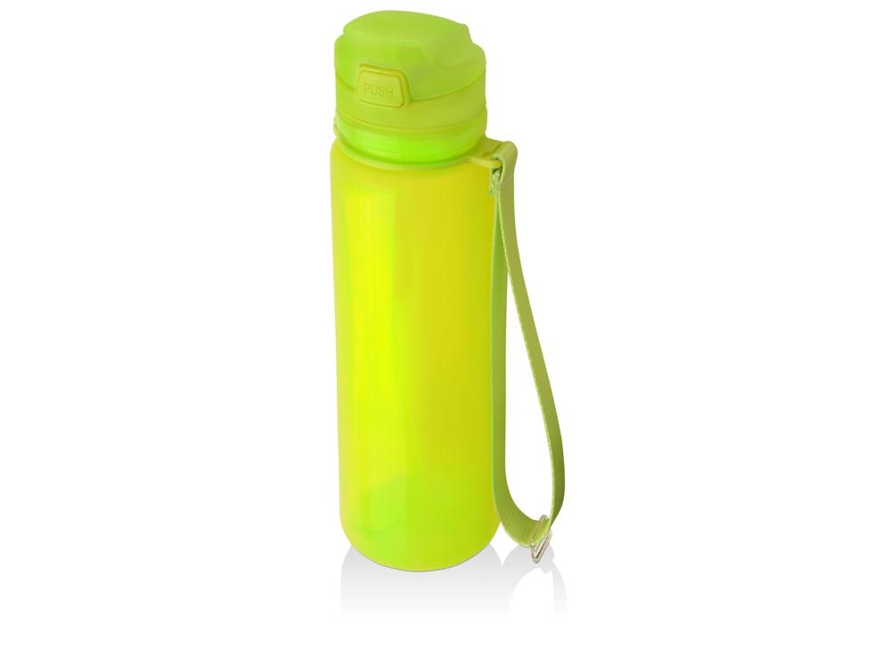 Складная бутылка Твист 500мл, зеленое яблоко
