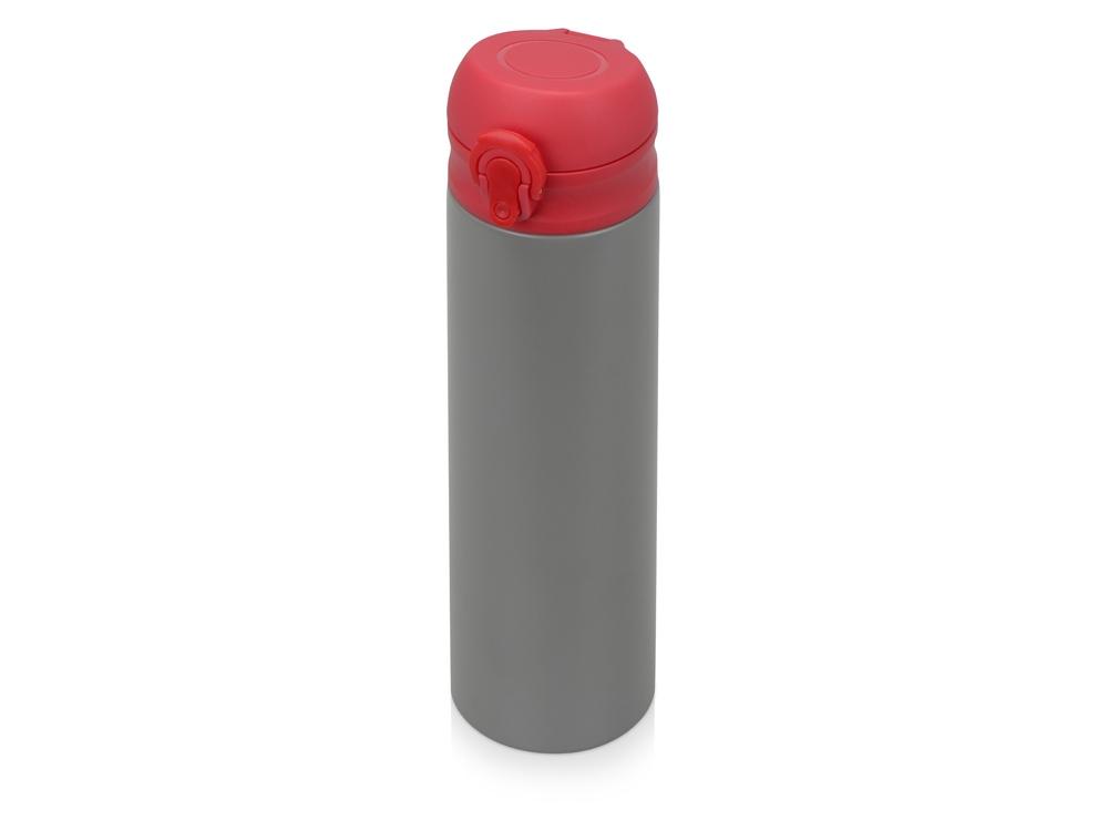 Вакуумная термокружка Хот 470мл, серый/красный