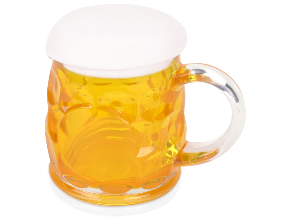 Кружка для пива с крышкой в виде пены