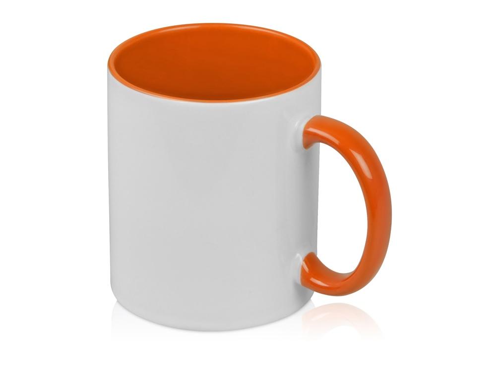Кружка для сублимации Sublime Color, белый/оранжевый