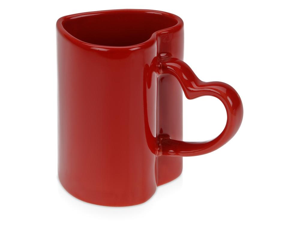 Кружка на 320 мл «Сердце», шт.,  красный
