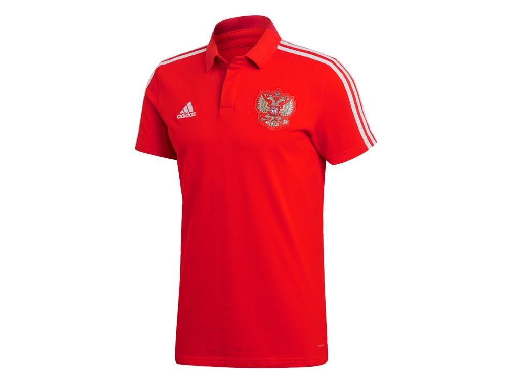Рубашка поло РОССИЯ 3-STRIPE. adidas, красный/белый