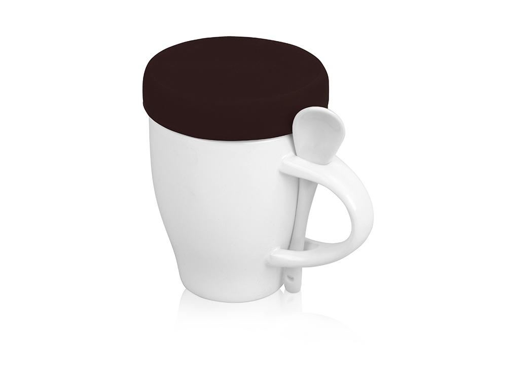 Кружка «Мескит» 320 мл, белый/темно-коричневый