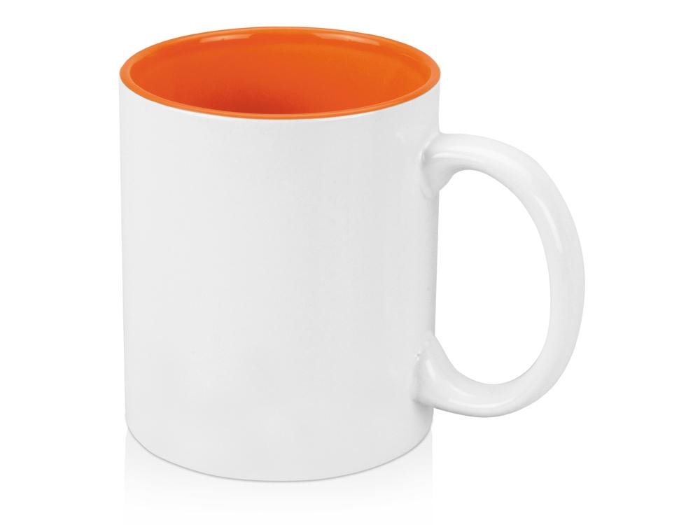 Кружка на 320 мл, шт.,  оранжевый/белый