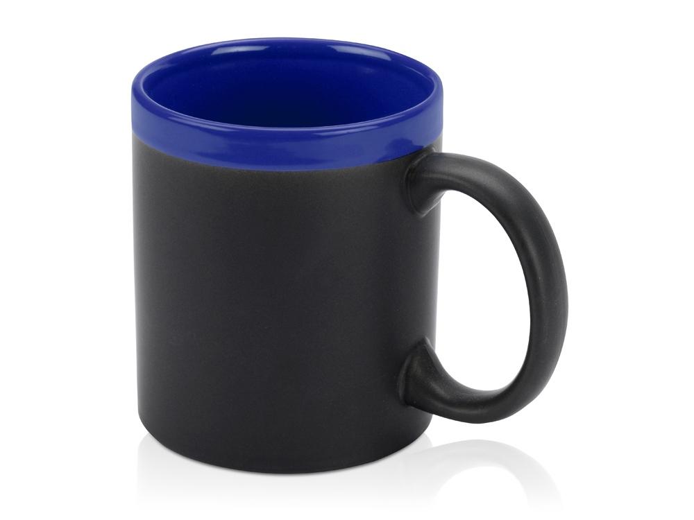 Кружка с покрытием для рисования мелом Да Винчи, черный/синий