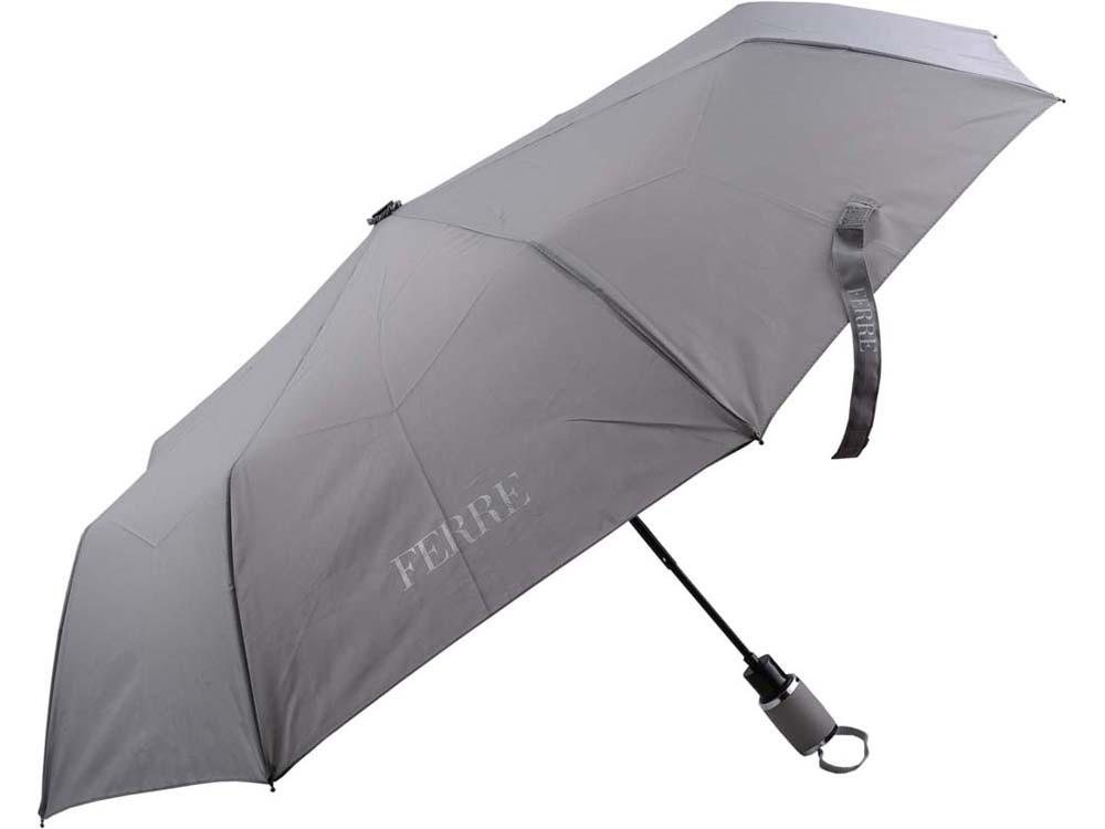 Складной зонт Ferre, полуавтомат, серый