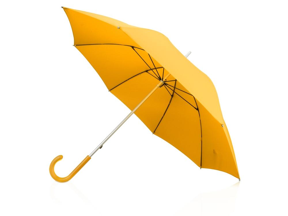 Зонт-трость механический с полупрозрачной ручкой, желтый