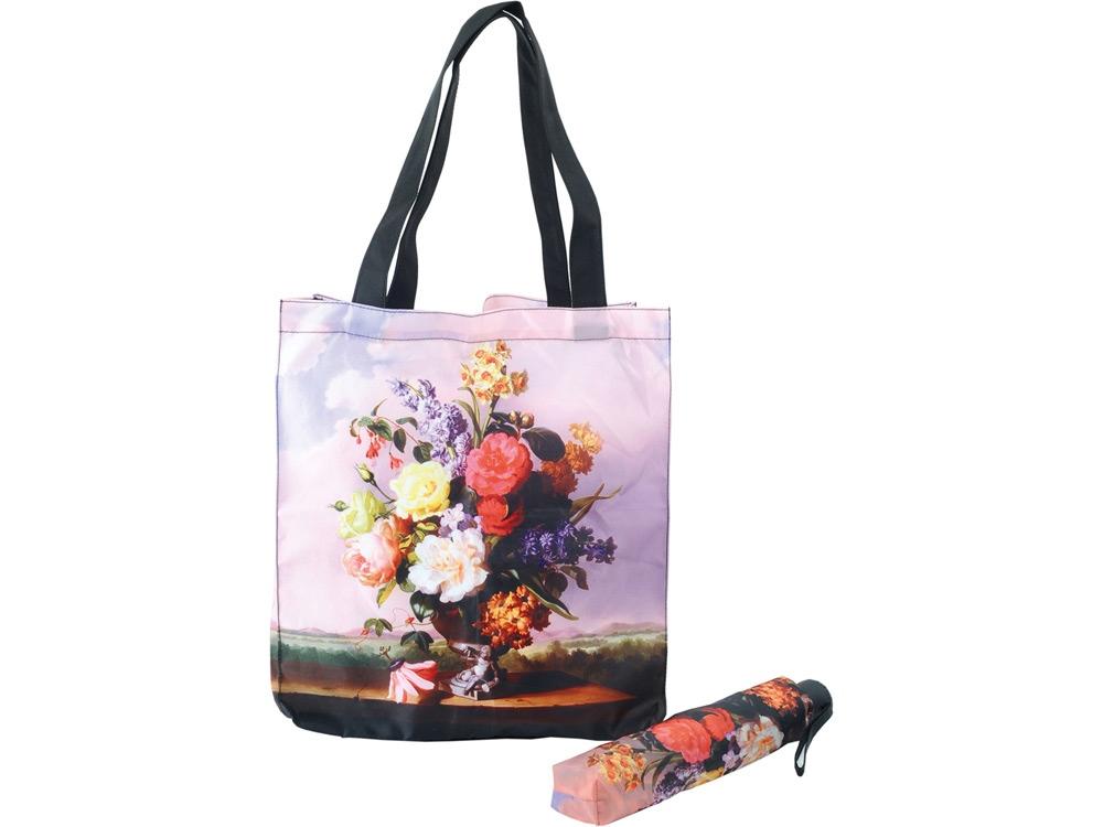 Набор «Букет»: зонт складной полуавтоматический и сумка для шопинга