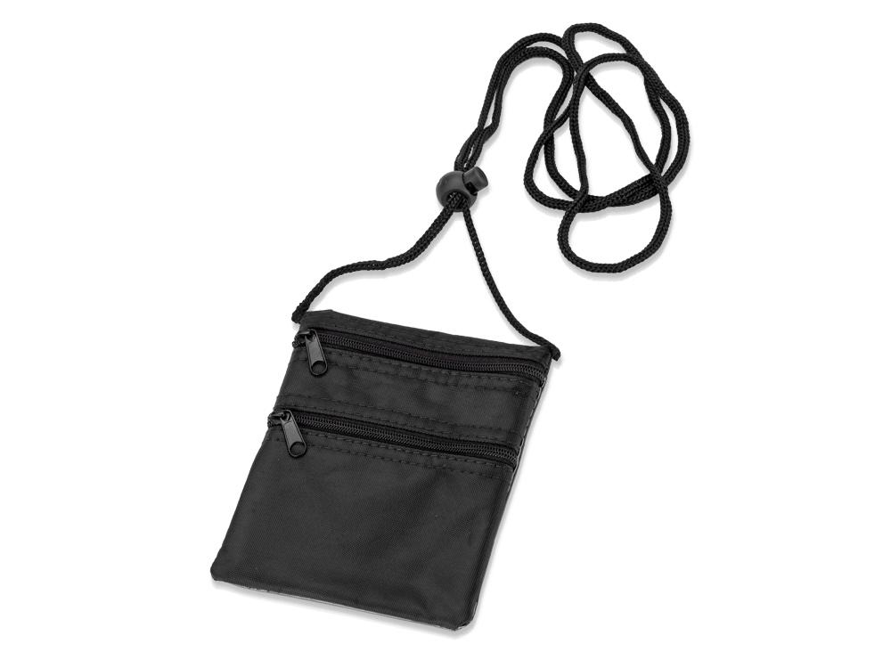 Нагрудный кошелек «Путешествие», черный