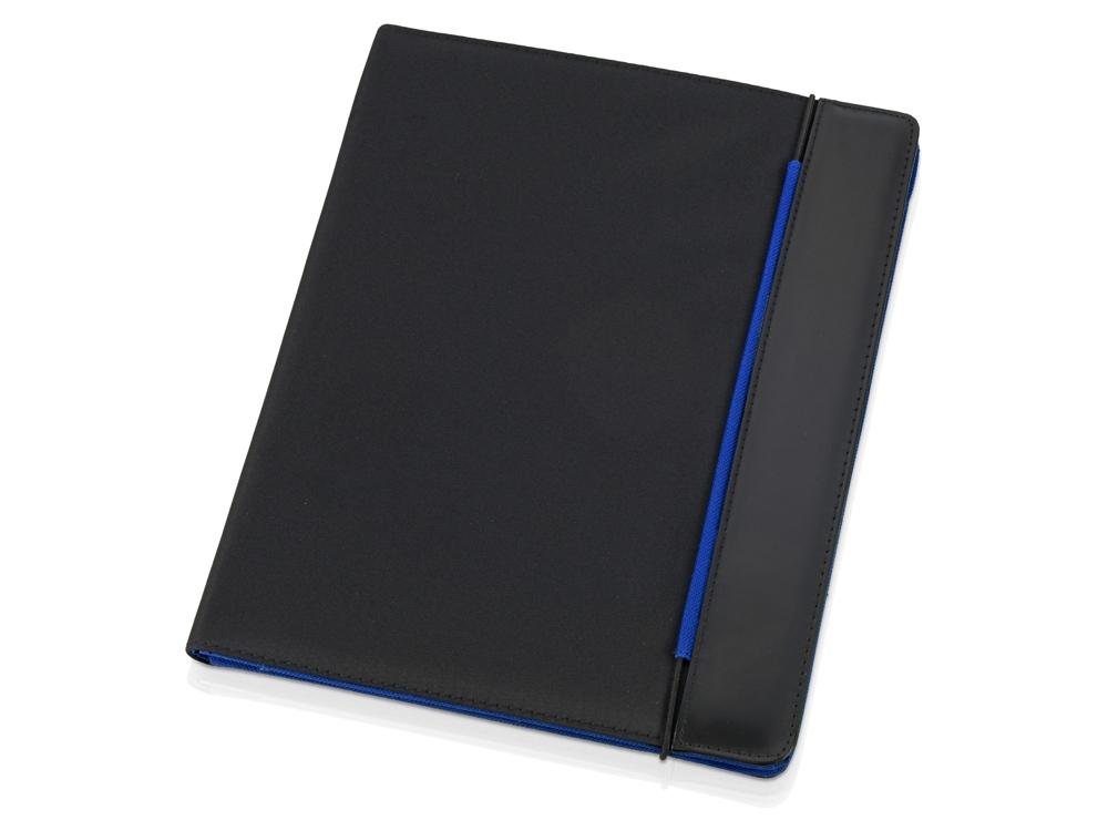 Папка для документов «Делос», черный/синий