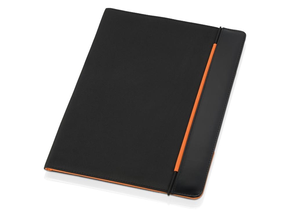 Папка для документов «Делос», черный/оранжевый