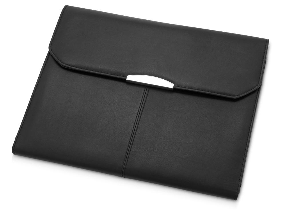 Папка для документов с блокнотом и калькулятором, черный