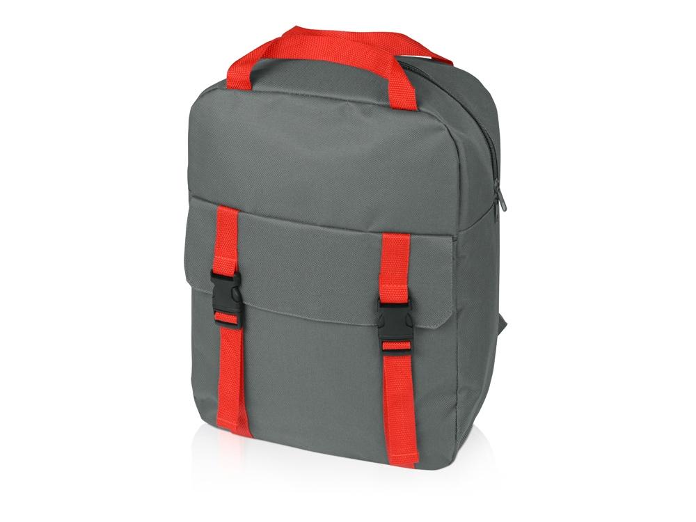 Рюкзак «Lock», серый/красный