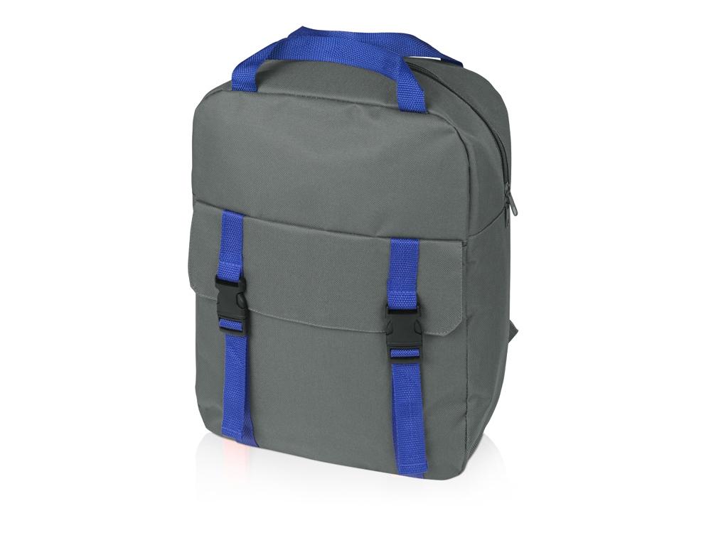 Рюкзак «Lock», серый/синий