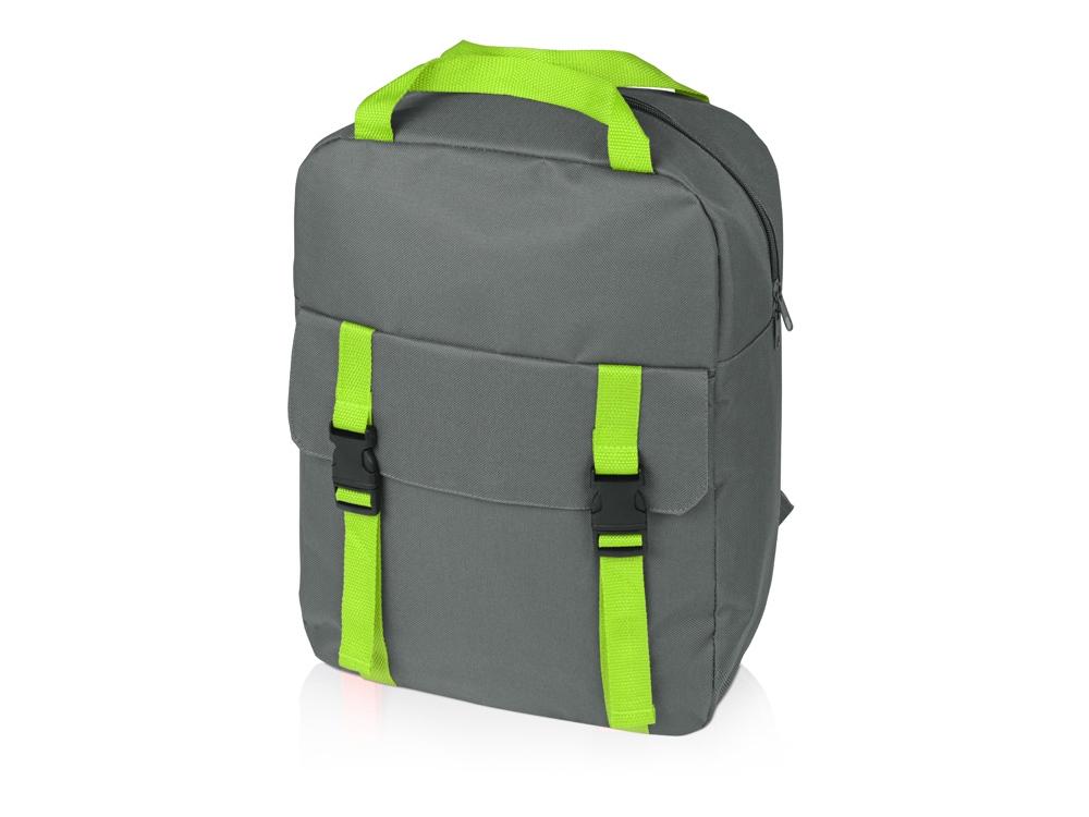 Рюкзак «Lock», серый/зеленое яблоко