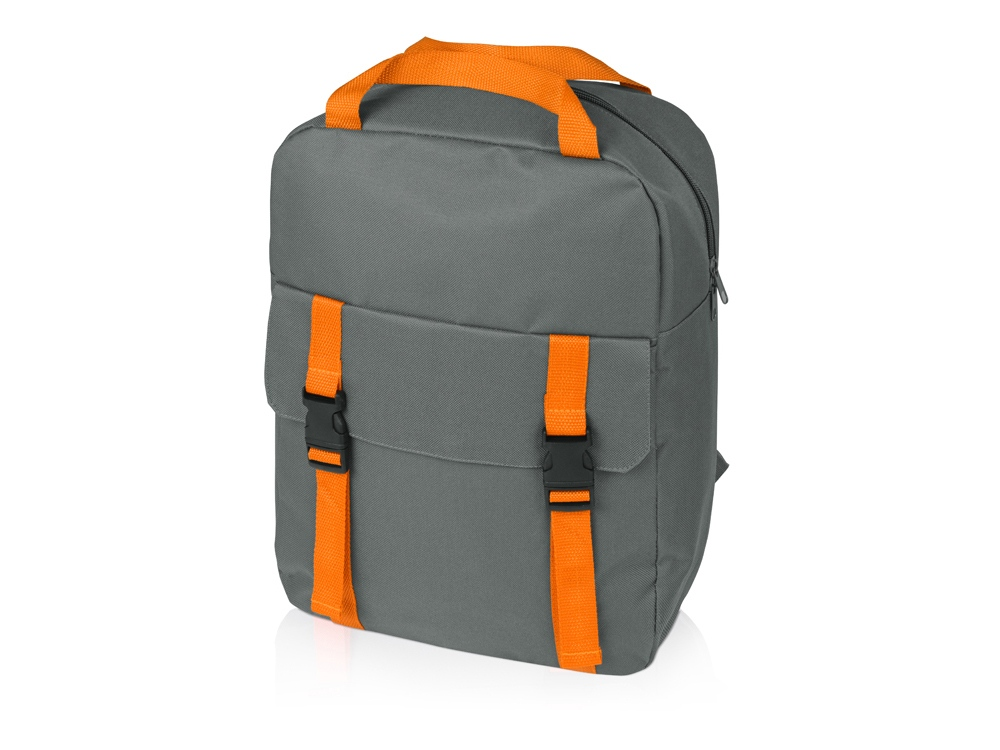 Рюкзак «Lock», серый/оранжевый
