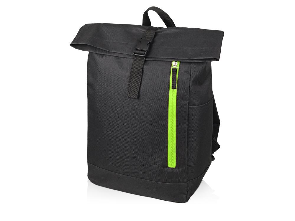 Рюкзак-мешок Hisack, черный/зеленое яблоко