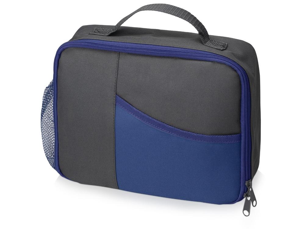 Изотермическая сумка-холодильник Breeze для ланч бокса, серый/синий