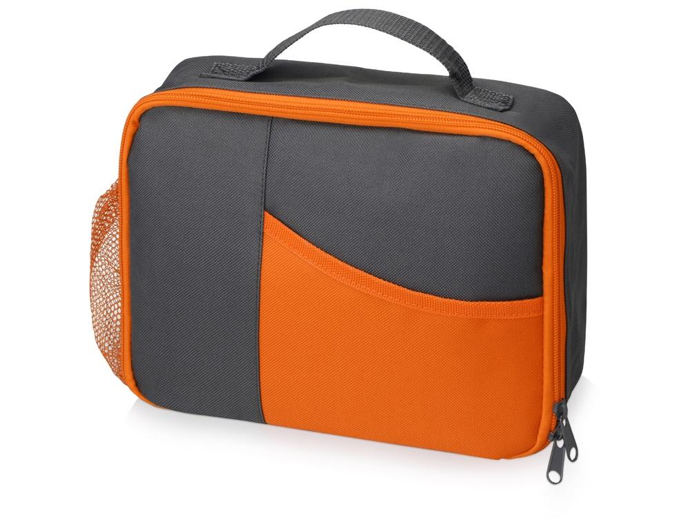 Изотермическая сумка-холодильник Breeze для ланч бокса, серый/оранжевый