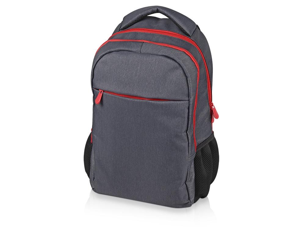 Рюкзак «Metropolitan», серый с красной молнией